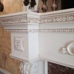 faux painted fireplace