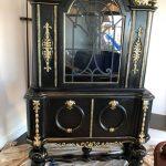 black lacquer armoire