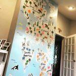map nursery mural